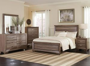 4 pc E.king bedroom set mattress not included for Sale in Fullerton, CA