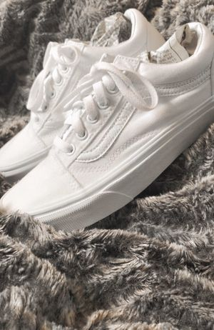 All White Old Skool Vans for Sale in Loreauville, LA