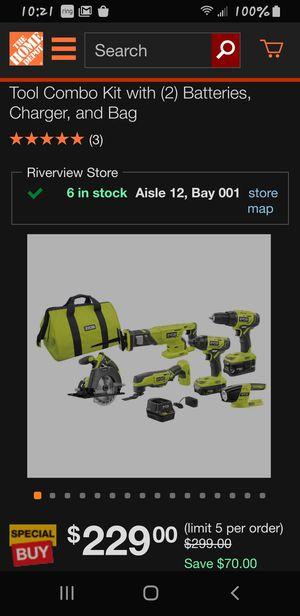 Ryobi 18v 6 tool combo set for Sale in Riverview, FL