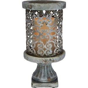 "9"" Cement Pillar with Flameless Candle for Sale in Pompano Beach, FL"