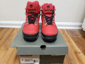Timberland Euro Hiker Red Canvas Sz 10 for Sale in Smyrna,  GA