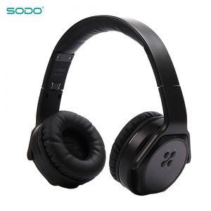 SODO MH3 WIRELESS HEADPHONES TWIST-OUT SPEAKER BLUETOOTH 2 IN 1 HEADSET (black) for Sale in Los Angeles, CA