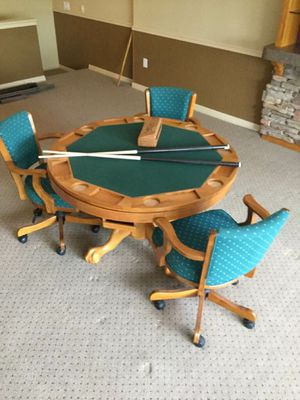 Bumper Pool, Poker and Card Table with chairs for Sale in NEW PRT RCHY, FL