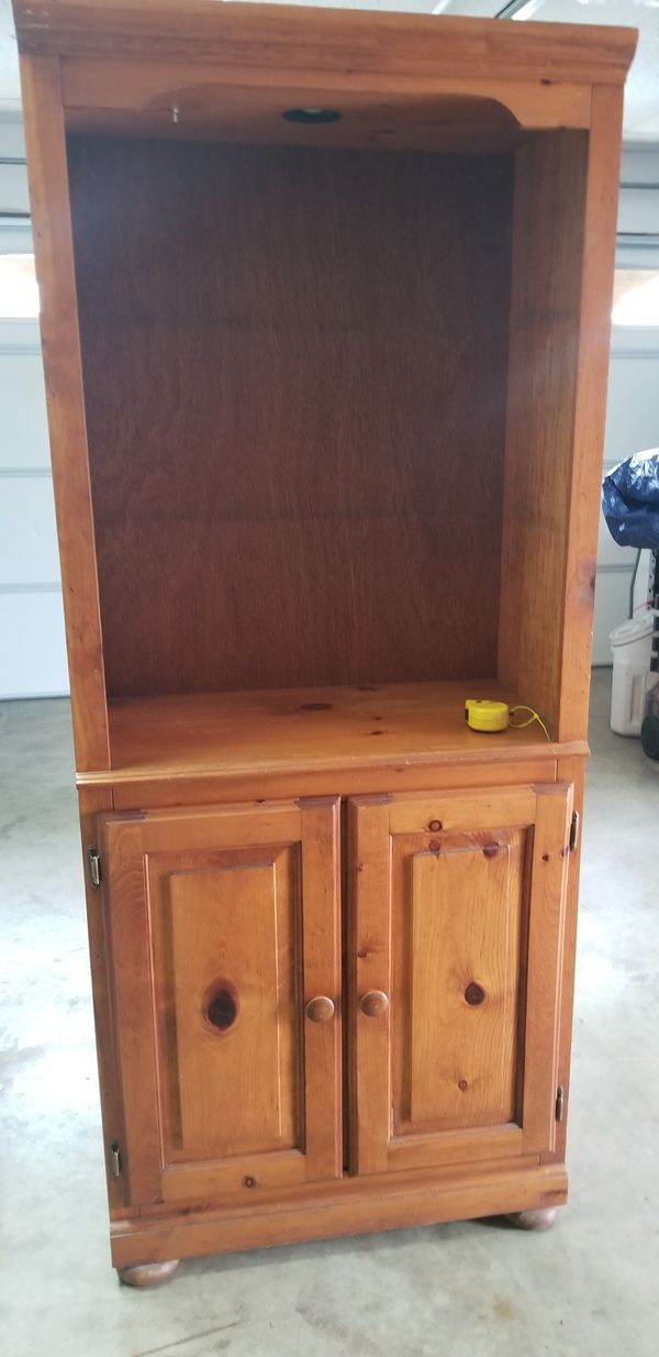 2 entertainment cabinets