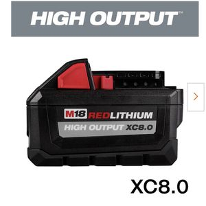 Milwaukee M18 XC 8.0 Batteries for Sale in Santa Maria, CA