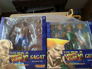 Storm Collectibles Sagat & Guile Discounted 2 pk for Sale in Clovis, CA