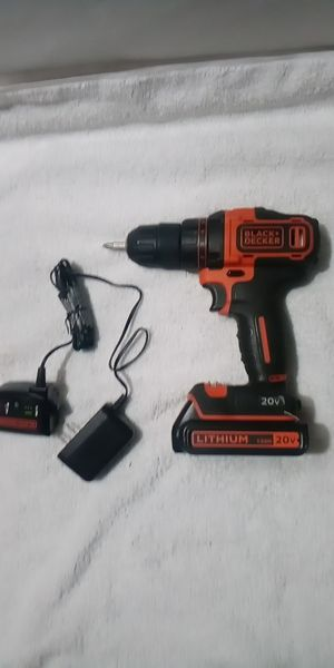 Black and Decker drill with wall plug in charger for Sale in Seattle, WA