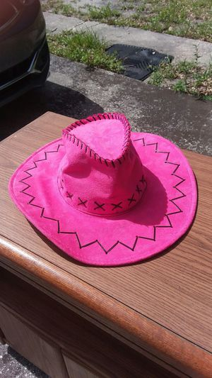 Pink suede hat for Sale in Winter Haven, FL