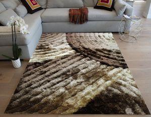 Dark brown light brown caramel champagne color shag 5x7 modern rug for Sale in Los Angeles, CA