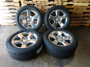 2018 Chevy Silverado OEM wheels 20x9+27 and new Toyo tires for Sale in Ontario, CA
