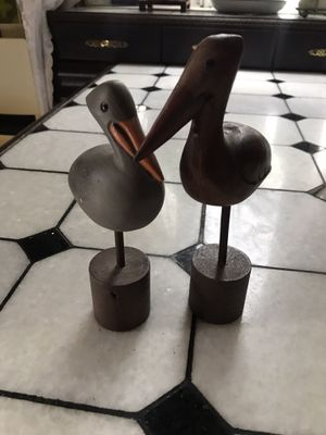 Pair of Wooden Pelicans for Sale in Philadelphia, PA