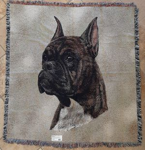 Boxer Tapestry Throw Lap Square for Sale in Norco, CA