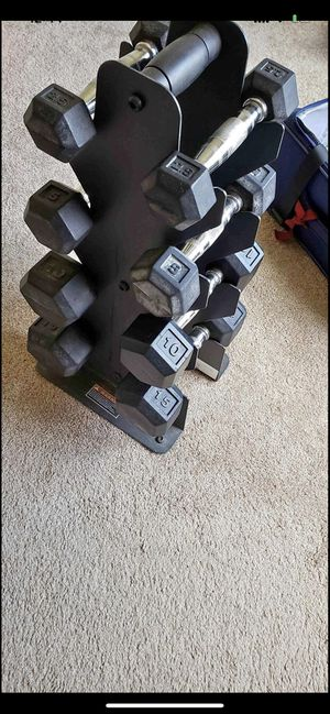 Dumbbell with rack for Sale in Austin, TX