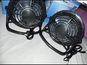 USB 2 black mini fans for Sale in Los Angeles, CA