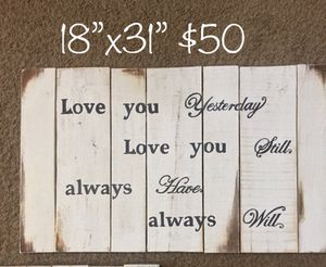 Wood sign for Sale in Delaware, OH