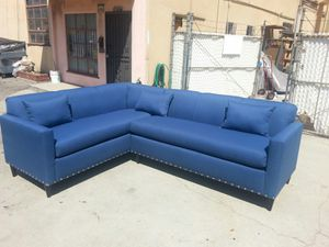 NEW 7X9FT CLYDE DEEP OCEAN FABRIC SECTIONAL COUCHES for Sale in Ontario, CA