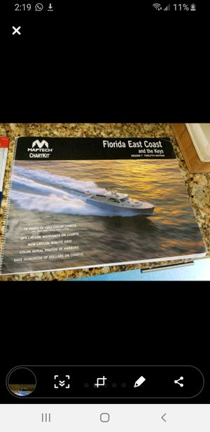 Navigation charts with parallel ruler for charting for Sale in Miami, FL