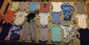 Baby boy clothes shoes and socks for Sale in Geneseo, KS