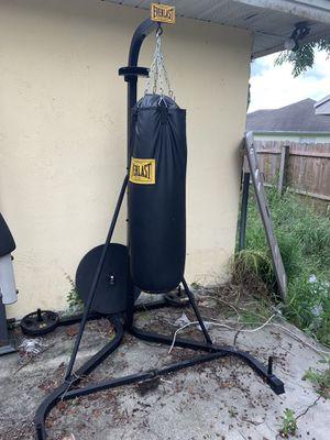 Everlast punching bag w speed bag for Sale in Lakeland, FL