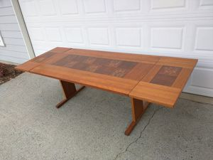 Danish teak and tile drop leaf dining room table for Sale in Duluth, GA