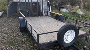 Utility trailer, 10'X5' with spare and drop down tail gate. for Sale in Princeton, MN