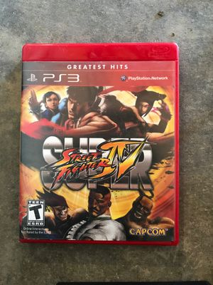 Ps3 stret fighters 4 for Sale in Banning, CA
