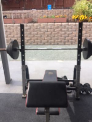 Weight set with bench for Sale in Martinez, CA