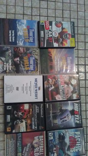 Playstation2 ncaa7,baseball dvds,touring world dvds,play station2 midnignight club 3. for Sale in West Palm Beach, FL