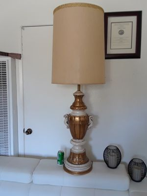 Antique Stone table lamp 54 inch for Sale in Los Angeles, CA