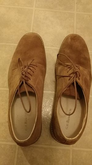 G.H.BASS & CO.BROWN SUEDE CASUAL DRESS MEN'S SHOES U.S.SIZE 12D. for Sale for sale  Raleigh, NC