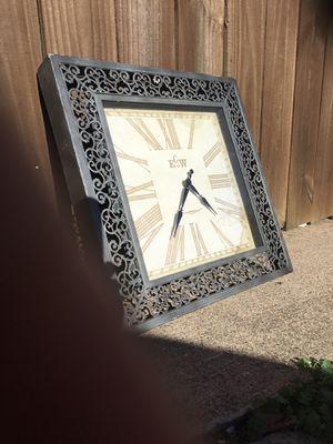 Silver clock for Sale in Carrollton, TX