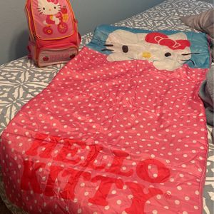 Help Kitty Kids Backpack And Sleeping bag for Sale in Bakersfield, CA