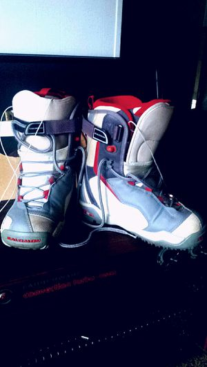 Royal Red & Sterling Silver Snow Board Boots for Sale in Fairfax, VA