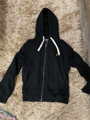 Black Ralph Lauren Polo Zip-Up Hoodie/Jacket, Size M for Sale in Winter Springs, FL