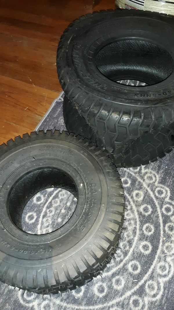 Lawn tractor new tires.18x9.50 and 15x6.0