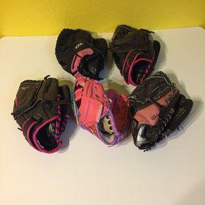 Girls RHT Softball Gloves $15 Ea. for Sale in Austin, TX