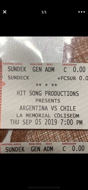 Argentina 🇦🇷 Vs Chile 🇨🇱 for Sale in Fontana, CA
