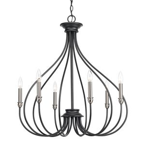 Progress Lighting Whisp Collection 6-Light Graphite Chandelier with Brushed Nickel Accents. Brand New! for Sale in Plantation, FL