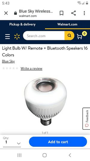 Blue Sky wireless Bluetooth bulb. Plays music and is LED light. 16 colors. Price Is unreal. for Sale in Lawrenceville, GA