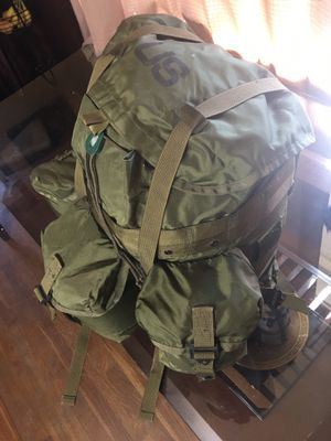 US military backpack and belt plus a canteen for Sale in Springfield, VA