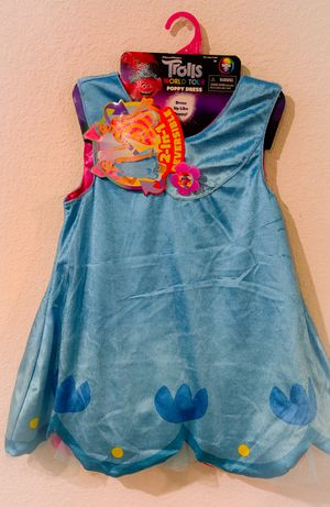 Trolls dress Fits sizes 4-6X for Sale in Katy, TX