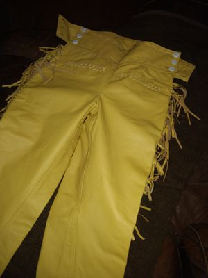 Leather fringe pants for Sale in Pine Plains, NY