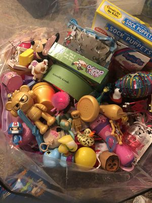 Full plastic bag with toys n games!! for Sale in Haverhill, MA