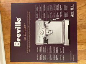 Breville infuser espresso machine for Sale in Kansas City, MO