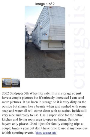 2002 Sandpiper 5th wheel 29ft for Sale in Pismo Beach, CA