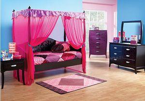 Belle Noir Canopy Daybed with Trundle Bedroom Set (Black) for Sale in Princeton, FL