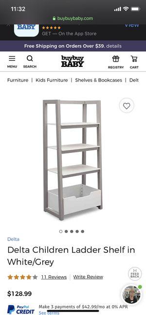 White & Grey Childrens ladder shelf for Sale in Mesa, AZ