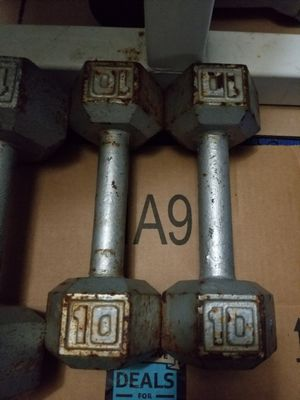 Pair of 10 lb dumbbell set for Sale in Fort Lauderdale, FL