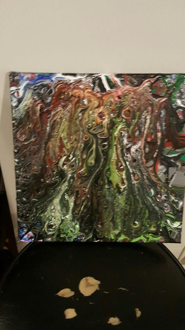 Hand made abstract art