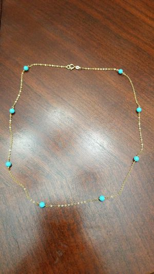 """16"""" 14k necklace with turquoise beads for Sale in Alexandria, VA"""